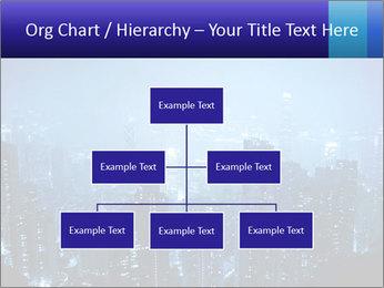 Blue City Night Lights PowerPoint Template - Slide 66