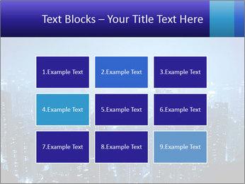 Blue City Night Lights PowerPoint Template - Slide 68