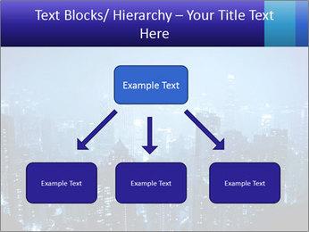 Blue City Night Lights PowerPoint Template - Slide 69