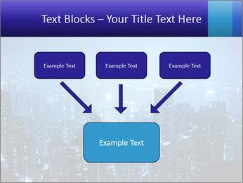 Blue City Night Lights PowerPoint Template - Slide 70
