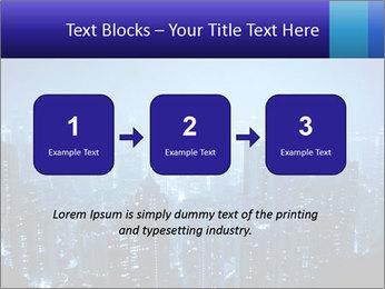Blue City Night Lights PowerPoint Template - Slide 71