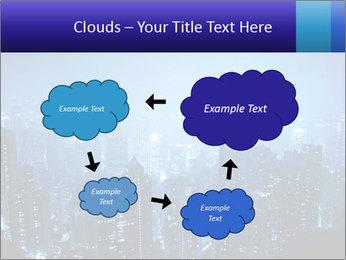 Blue City Night Lights PowerPoint Template - Slide 72