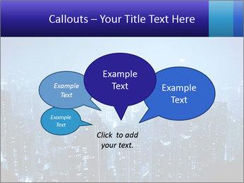 Blue City Night Lights PowerPoint Template - Slide 73