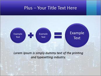 Blue City Night Lights PowerPoint Template - Slide 75