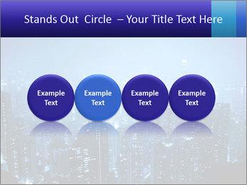 Blue City Night Lights PowerPoint Template - Slide 76
