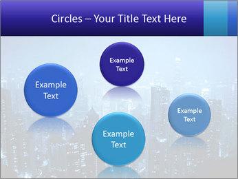 Blue City Night Lights PowerPoint Template - Slide 77