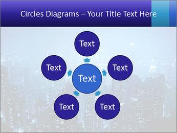 Blue City Night Lights PowerPoint Template - Slide 78