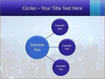 Blue City Night Lights PowerPoint Template - Slide 79
