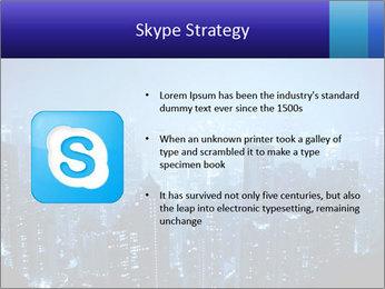 Blue City Night Lights PowerPoint Template - Slide 8