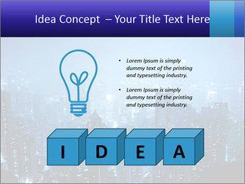 Blue City Night Lights PowerPoint Template - Slide 80