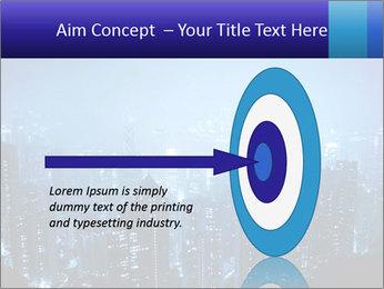 Blue City Night Lights PowerPoint Template - Slide 83