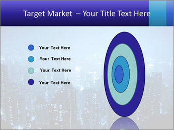 Blue City Night Lights PowerPoint Template - Slide 84