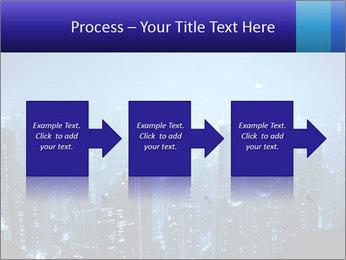 Blue City Night Lights PowerPoint Template - Slide 88