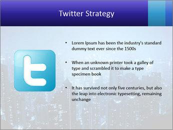 Blue City Night Lights PowerPoint Template - Slide 9