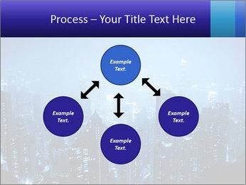 Blue City Night Lights PowerPoint Template - Slide 91