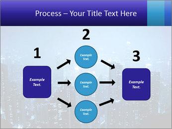 Blue City Night Lights PowerPoint Template - Slide 92