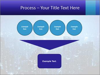 Blue City Night Lights PowerPoint Template - Slide 93