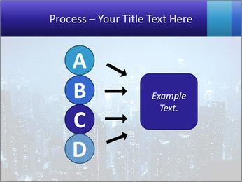 Blue City Night Lights PowerPoint Template - Slide 94