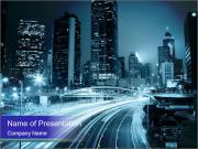 Night City Traffic PowerPoint Template