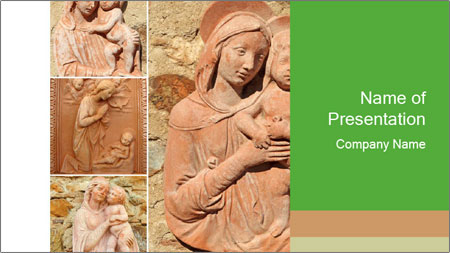 Antique Saint Mary Art PowerPoint Template