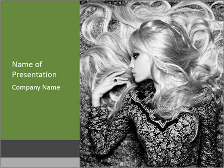 Black And White Fashion Schooting PowerPoint Template
