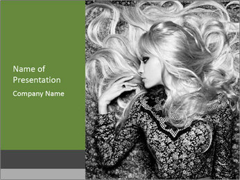 Black And White Fashion Schooting PowerPoint Template - Slide 1