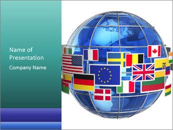 Global World PowerPoint Template - Slide 1