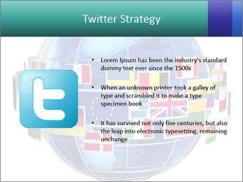 Global World PowerPoint Template - Slide 9