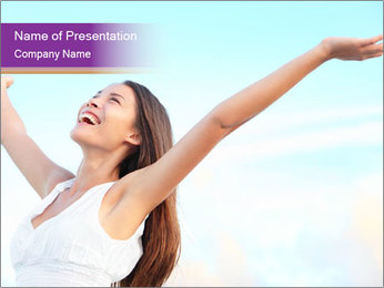 Relaxed Woman PowerPoint Template - Slide 1
