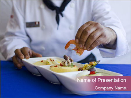 Busy Chef Cook PowerPoint Template