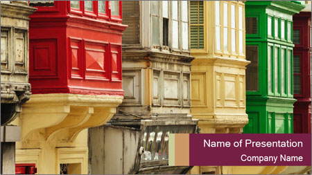 Colorful Buildings PowerPoint Template