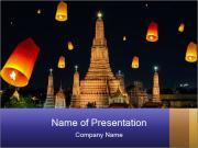 Christmas Flying Latern PowerPoint Template