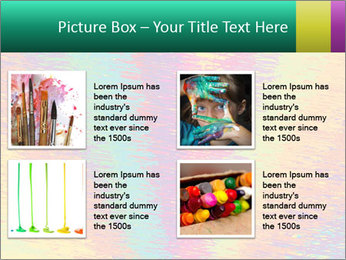 Rainbow Drawing PowerPoint Template - Slide 14
