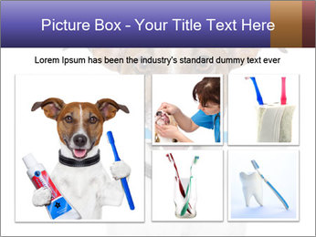 Dog With Tooth Brush PowerPoint Template - Slide 19