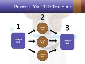 Dog With Tooth Brush PowerPoint Template - Slide 92