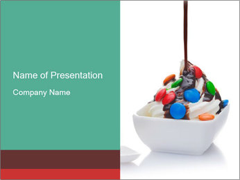 Colorful Icecream PowerPoint Template - Slide 1