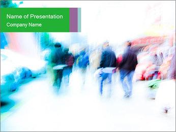 Busy Crosswalk PowerPoint Template - Slide 1