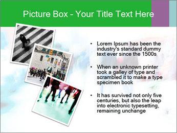 Busy Crosswalk PowerPoint Template - Slide 17