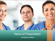 Healthcare Team PowerPoint Template