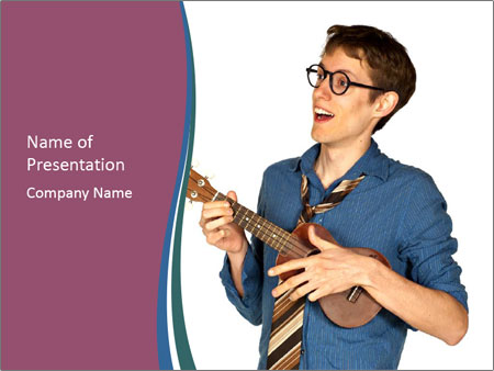 Emotional Guitar Player PowerPoint Template