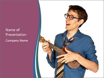 Emotional Guitar Player PowerPoint Template - Slide 1