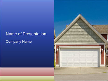 House Garage PowerPoint Template - Slide 1