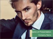 Male Model PowerPoint Template