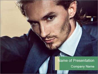Male Model PowerPoint Template - Slide 1