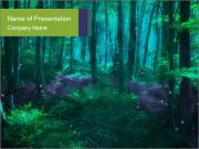 Magic Green Forest PowerPoint Template