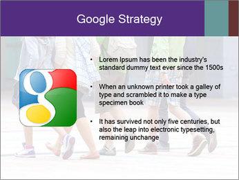 Teenagers Walking On Street PowerPoint Template - Slide 10