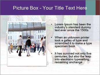 Teenagers Walking On Street PowerPoint Template - Slide 13