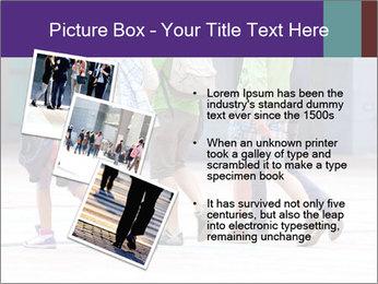 Teenagers Walking On Street PowerPoint Template - Slide 17