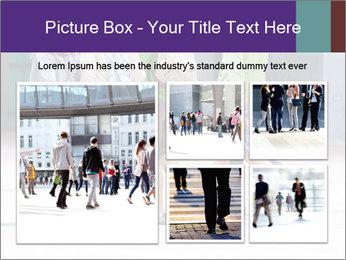 Teenagers Walking On Street PowerPoint Template - Slide 19
