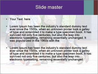 Teenagers Walking On Street PowerPoint Template - Slide 2